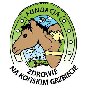 """Fundacja """"Zdrowie na końskim grzbiecie"""" logo"""